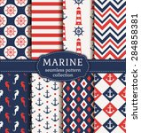 set of marine and nautical... | Shutterstock .eps vector #284858381