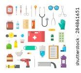 flat design of medical... | Shutterstock .eps vector #284861651