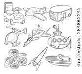 transportation toys | Shutterstock .eps vector #284862245