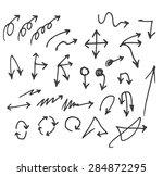 vector hand drawn arrows set... | Shutterstock .eps vector #284872295