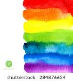 rainbow  watercolor texture.... | Shutterstock .eps vector #284876624
