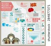 macedonia infographics ... | Shutterstock .eps vector #284877371