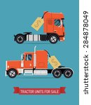 tractor units and semi trucks... | Shutterstock .eps vector #284878049