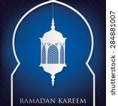 "window ""ramadan kareem"" ... | Shutterstock .eps vector #284881007"
