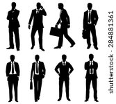 vector set of black silhouettes ... | Shutterstock .eps vector #284881361