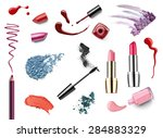 collection of various make up... | Shutterstock . vector #284883329