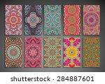 cards. vintage decorative... | Shutterstock .eps vector #284887601