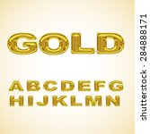 alphabet stylized gold | Shutterstock .eps vector #284888171