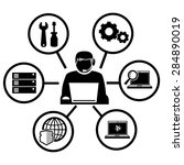 computer technician icons... | Shutterstock .eps vector #284890019