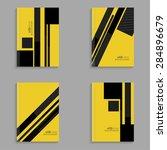 set covers for magazine of...   Shutterstock .eps vector #284896679
