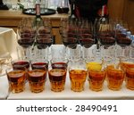 row of glasses full of juice | Shutterstock . vector #28490491