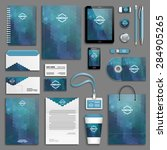 corporate identity template set.... | Shutterstock .eps vector #284905265