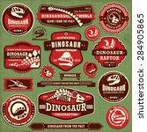 Vintage Dinosaur Label Design...