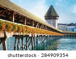cityscape of lucerne with... | Shutterstock . vector #284909354