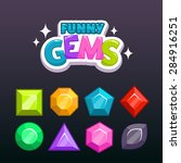 funny cartoon colorful gems for ...