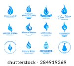 water logos  label  icons and... | Shutterstock .eps vector #284919269