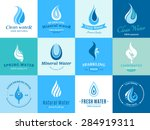 water logos  label  icons and... | Shutterstock .eps vector #284919311
