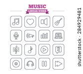 music linear icons set. musical ...