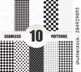 set geometric vector pattern.... | Shutterstock .eps vector #284929895