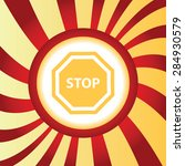 yellow icon with image of stop...