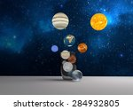 space in glass. 3 dimensional...   Shutterstock . vector #284932805