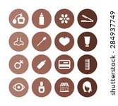 beauty salon icons universal... | Shutterstock . vector #284937749