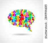 chat bubble of colorful people... | Shutterstock .eps vector #284944685