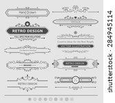calligraphic vector design... | Shutterstock .eps vector #284945114