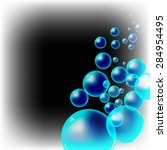 bubbles in the dark | Shutterstock . vector #284954495