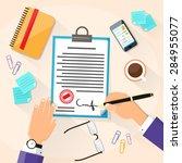 business man signature document ...   Shutterstock .eps vector #284955077