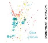 splashes of watercolor | Shutterstock .eps vector #284959091