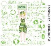 cute eco friendly illustration.