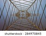 inside of a power pylon  ... | Shutterstock . vector #284970845