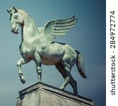 Statue Of Pegasus On The Roof...
