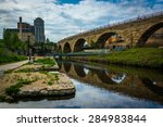 The Stone Arch Bridge And Mill...