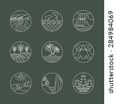 nature line icons set.... | Shutterstock .eps vector #284984069