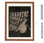 education design on wood frame  ... | Shutterstock .eps vector #284985089