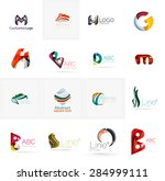 set of new universal company... | Shutterstock .eps vector #284999111