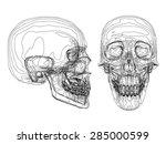 vector illustration of abstract ... | Shutterstock .eps vector #285000599