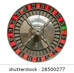Old Roulette Wheel Isolated On...