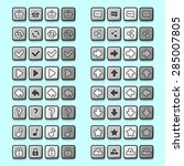 stone game icons buttons icons  ... | Shutterstock .eps vector #285007805