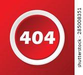 round white icon with text 404  ...