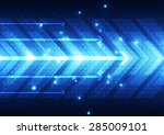 vector digital speed technology ... | Shutterstock .eps vector #285009101