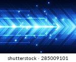 vector digital speed technology ... | Shutterstock .eps vector #285009101