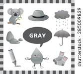 learn the color gray  things... | Shutterstock .eps vector #285009839