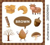 learn the color brown  things... | Shutterstock .eps vector #285009845