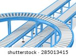 blue roller conveyor system. ... | Shutterstock . vector #285013415