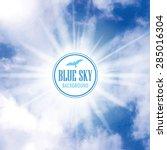 cloudy sky vector background... | Shutterstock .eps vector #285016304