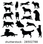 Stock vector various dog silhouettes vector illustration 28502788