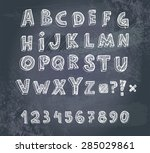 trendy hand drawing alphabet... | Shutterstock .eps vector #285029861
